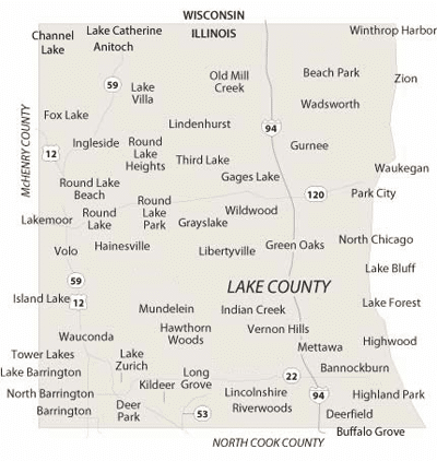 map of Lake county